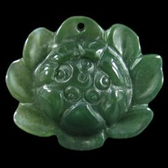 Lotus Pendant/Charm Carved From Agate