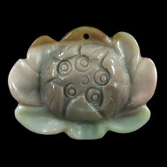 Lotus Pendant/Charm Carved From Jasper