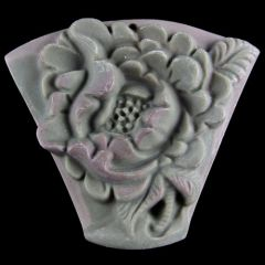 Deeply Carved Jasper Pendant of a Rose