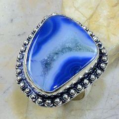 Druzy Agate Ring, Size 9, Unisex
