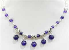 Amethyst and Tibetan Silver Necklace