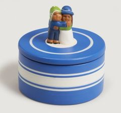 Ceramic Box With Loving Couple