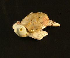 Carved Soapstone Sea Turtle, Medium
