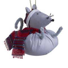 Fabric Mouse Ornament