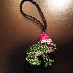 Santa Frog Ornament!