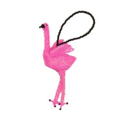 Beaded Flamingo Ornament