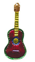 Mexican Tin Guitar Ornament