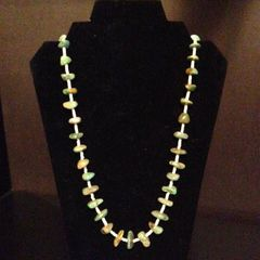 Vintage Santo Domingo Necklace - Natural Turquoise and Heishi
