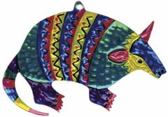Mexican Tin Ornament of an Armadillo!