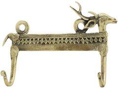 Solid Brass Wall Hook - Gazelle