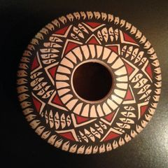 Mata Ortiz Seed Pot, Large, with Geometric Design
