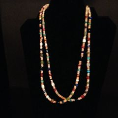 Santo Domingo Necklace with Heishi and Mixed Semi-Precious Gemstone