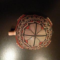 Mata Ortiz Turtle with Geometric Design