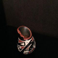 Small Mata Ortiz Urn with Cut Away Top