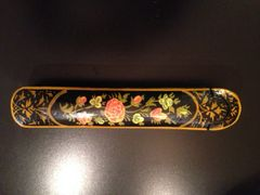 Vintage Hand-Painted and Lacquered Pencil Box