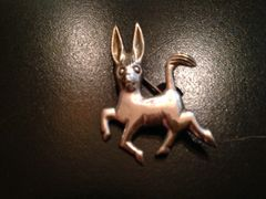 Vintage Sterling Silver Pin/Brooch...of a Prancing Donkey!