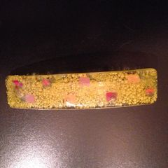 Fused Glass Hair Barrette in Sunny, Citrus Colors