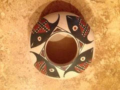 Mata Ortiz Seed Pot with Frisky Fish