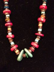 Coral, Turquoise, Heishi and Mixed Stone Necklace