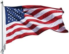 USA 5ft x 9-1/2ft Sewn Polyester Flags