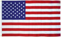 USA 5ft x 9-1/2ft Sewn Cotton Flags