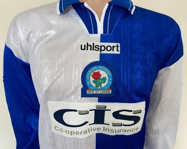 Sherwood #4 Blackburn 1996-1997 Away Football Nameset for shirt