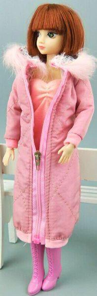 Handmade Pink Barbie Winter Coat With Hood Barbie Winter Jacket