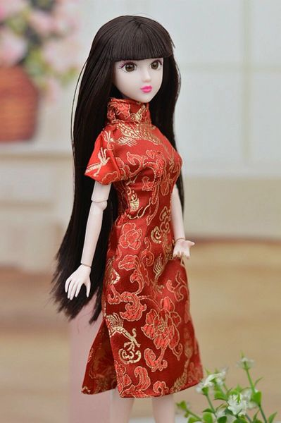 Satin Chinese Barbie Dress Barbie Casual Wear