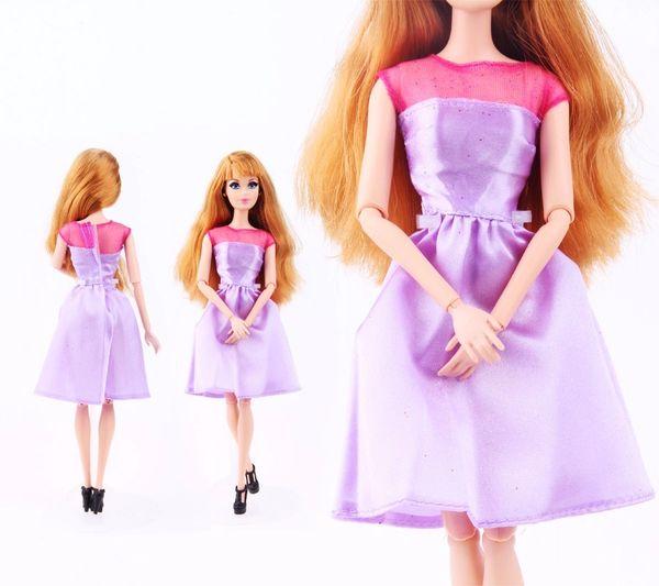 Lilac Barbie Dress Modest Barbie Clothes Shoes