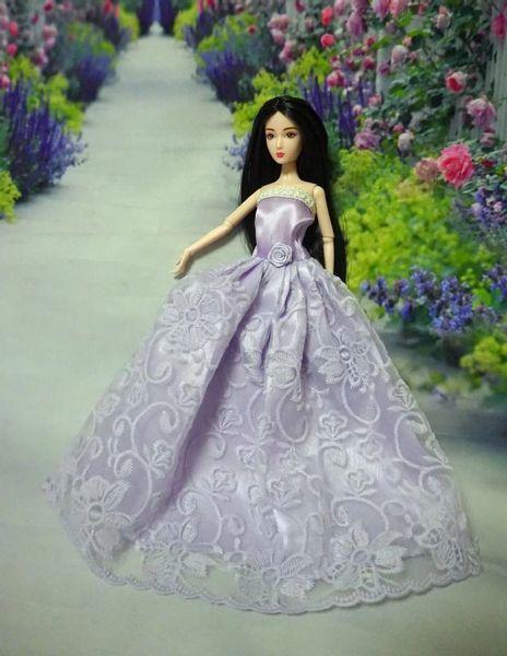 Lilac Barbie Dress-Modest Barbie Clothes-Barbie Shoes