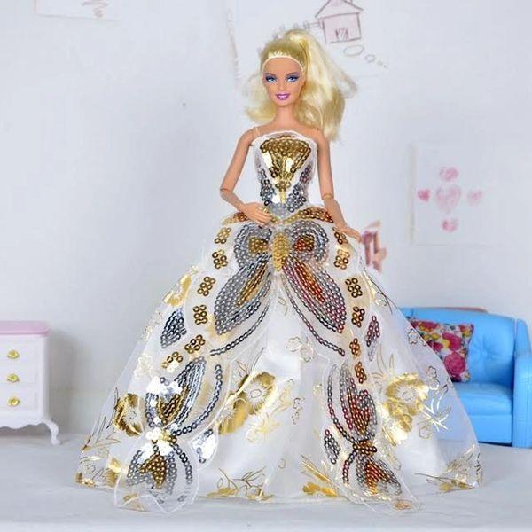 Barbie Gown-Hat-Barbie Shoes