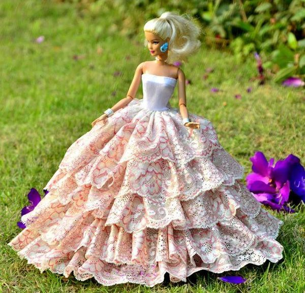 Modest Barbie Gown-Shoes