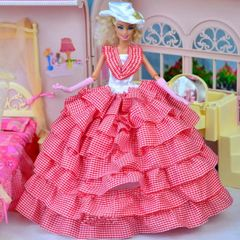Barbie Gown-Hat-Gloves-Shoes
