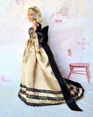 Satin Barbie Gown-Shoes