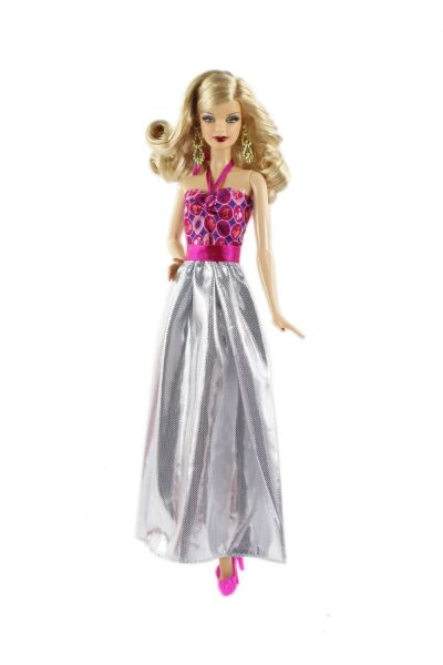 Satin Barbie Gown Fancy Barbie Shoes