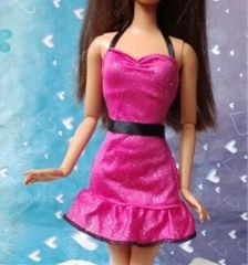 Sparkly Barbie Dress-Pink Barbie Shoes