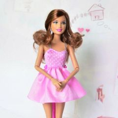 Pink Barbie Dress-Modest Barbie Clothes-Barbie Shoes