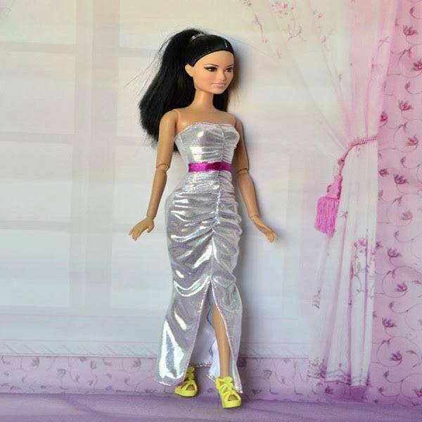 Silver Barbie Gown Modest Barbie Clothes Shoes
