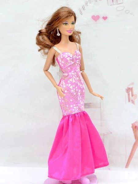 Barbie Dress Modest Barbie Clothes Pink Barbie Shoes