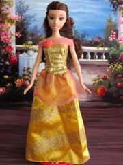 Barbie Princess Dress-Gold Barbie Shoes