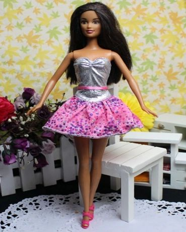 Glitter And Glam Barbie Dress-Modest Barbie Clothes-Shoes