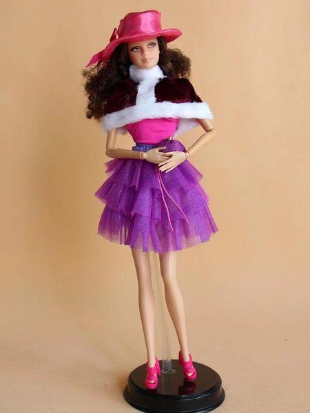 Barbie Casual Wear Skirt Belt Hat Shirt Shawl Purse Shoes