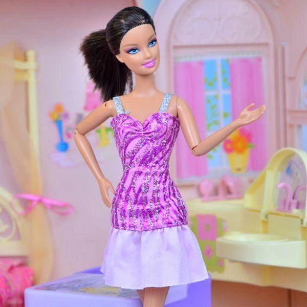 Glitter Barbie Dress Modest Barbie Clothes Shoes