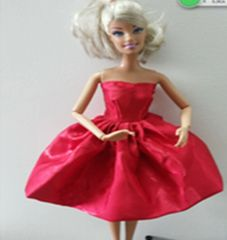 Satin Holiday Barbie Dress-Fancy Red Barbie Shoes
