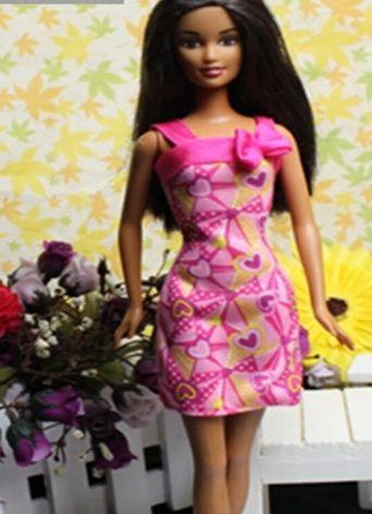 Valentine's Hearts Barbie Dress Barbie Shoes