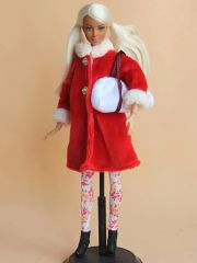 Modest Barbie Clothes-Coat-Hat-Blouse-Purse-Leggings-Boots