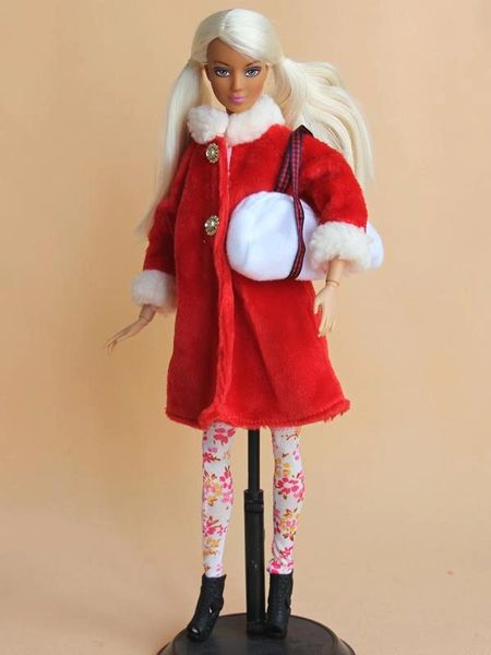 Modest Barbie Clothes Coat Hat Blouse Purse Leggings Boots