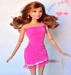 Sweet Barbie Dress-Bright Pink Barbie Shoes