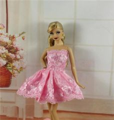 Pink Lace Barbie Dress-Barbie Shoes
