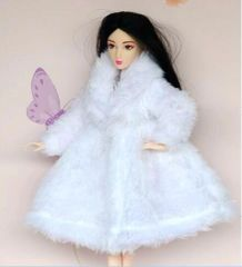 Barbie Fur Coat-Modest Barbie Clothes